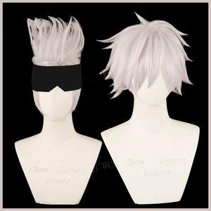 Anime Jujutsu Kaisen Gojo Satoru Cosplay парик синтетический парик Хэллоуин Рождественская вечеринка + бесплатная крышка