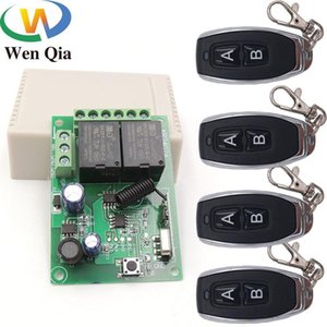 433 МГц Универсальный беспроводной пульт дистанционного управления DC5V 12V 24V 2CH RF реле и передатчик Удаленный гараж / ворота / двигатель / свет / домашнее устройство1