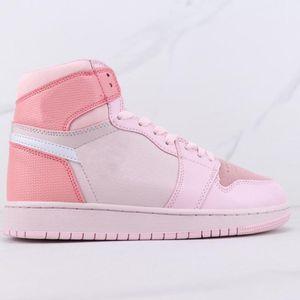 2020 Peri Sakura 핑크 여성 스케이트 보드 신발 jumpman 1 중간 망 여성 낮은 탑 디지털 분홍색 농구 신발 깨진 리바운드 점퍼 스니커즈