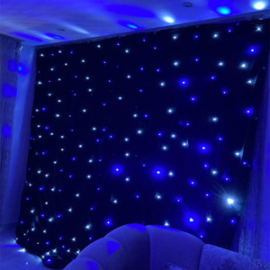 Free Shipping 3X6 M LED Star Curtain Fireproof Cloth Set For Nightclub Stage Wedding Backdrops Centerpieces Supplies Size Customization
