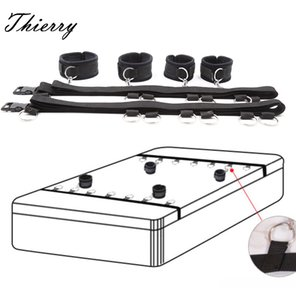 Thierry Adult Games Sexy Toy Bed Restraints Handcuffs Sex Toys For Couples Sex Products Tool Bondage Fixed Hand Ankle Erotic Toy Y201118