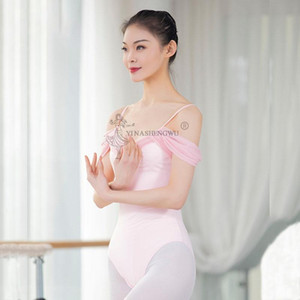 Women Ballet Leotard Dance Wear Adult Soft Strap ShortSleeve Stretch Camisole Gymnastics Leotard Bodysuit Ballet Dress Dancewear