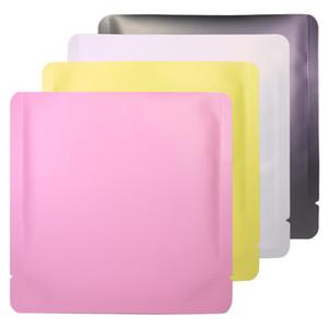 15x15cm Diferente Color blanco / amarillo / rosa / negro Papel de aluminio sellable de aluminio bolsa de aluminio abierto abierto bolsa de paquete bolsa de vacío AHC4135