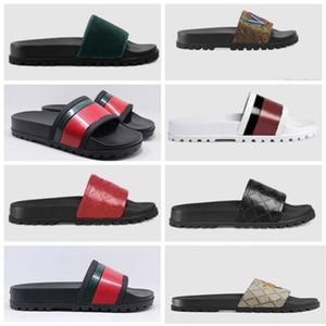 2021 Venta de zapatos de buenos Slides Summer Beach Sandalias de interior Sandalias Planas Zapatillas Casa Flip Flaops con Sandal Sandal, EU 35-45 con caja 901