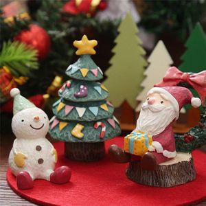 Resina mini figurina natale santa claus in resina giocattoli fai da te giardino ornamento artigianale bambini giocattoli regali all'ingrosso AHE3154