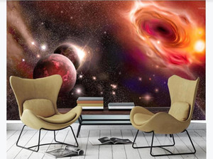 Custom Beautiful fantasy universe starry sky planet milky way Mural Living room Bedroom TV background wallpaper for Walls 3D1