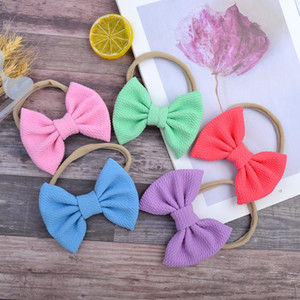 20pcs lot Wholesale Solid Color Nylon Baby Headband Soft Elastic Hair Bows For Girls Kids Party Decoration Diy Hair Accessories Q bbyVqs