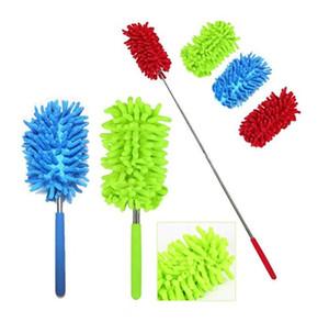 نحولات مرنة مزيل الغبار المحمولة مقبض طويل للتمديد منفضة الشنيل للمنزل سيارة تنظيف أداة DHLDHD3775