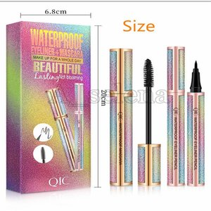 2021 4D Fiber Lash Mascara Liquid Eyeliner Pencil Set Black Makeup Starry Sky Mascara Volume Thick Eyelash Long Lasting Waterproof Eye Liner