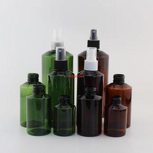 50ML 100ML 150ML 200ML 500ML حاويات بلاستيكية مستحضرات تجميلية فارغة مع ضباب رذاذ مضخة العطور الأخضر زجاجة إعادة الملء التعبئة Qualtity