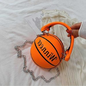 Дизайн Баскетбол Форма Сумка Мода Женщины Цепи Сумка Буква Сумка Женский Мини Сумки Crossbody Круговой Космен Монетка