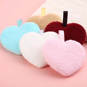 New Heart a forma di cuore riutilizzabile microfibra donna facciale stoffa magica fazzo asciugamano trucco rimesso asciugamano pulizia asciugamano lavaggio asciugamano scelta casuale