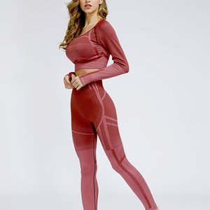 Hollow Long-sleeved Top, Tight Pants, Gym Running Clothes, Sports Fitness Suits, Women's Yoga Clothing