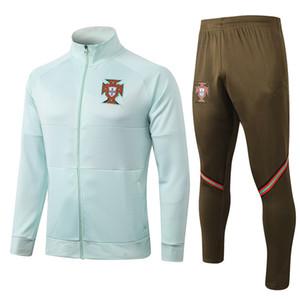2020 Ronaldo Jersey de football Joao Felix Neves Bernardo Cancelo Ruben Neves 20 21 Jacket Homme Veste Sportswear Set Taille S-XXL