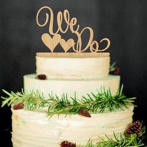 """لوازم الزفاف """"نحن نفعل"""" السيد السيدة """"كعكة خشبية توبر ريفي كعكة الزفاف الوقوف كعكة الخشب الطبيعي"""