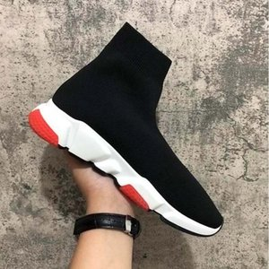 Cheap Platform Speed Trainer Mens Womens Sock Shoes Black White Red Men Women Top Quality Fashion Sneakers Casual Shoes SA2