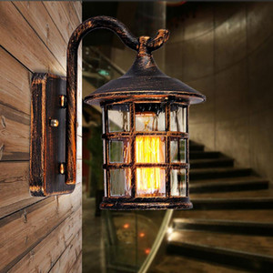 Vintage Industrial Wall Lights Cages Retro Sconce Wall Lamp 110V-220V E27 E26 Balcony Aisle Stair Corridor Lamp