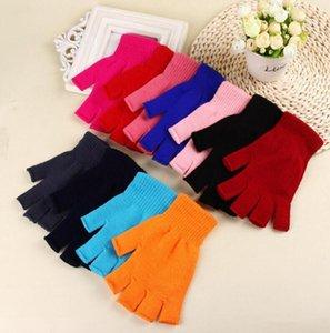 Frauen-Winter-Handschuhe Half Finger elastische Handschuhe Fashion Solid Color Erwachsene Fäustlinge Kreativität Crochet Glove Ski Sport accessonries DHC3702