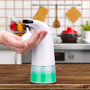 250ml Infrared Sensing Hand Foam Soap Dispenser Automatic Portable Foam Liquid Soap Dispenser for Bathroom Kitchen Accessories C0123