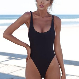 2021 One Piece Swimsuit Sexy Solid Female Swimwear Women Backless Brazilian Monokini Bathing Suit 5 Colors