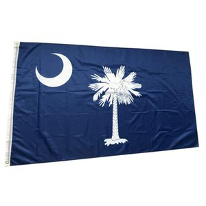 US America South Carolina State Flags 3'X5'ft 100D Polyester Outdoor Hot Sales High Quality With Two Brass Grommets