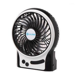 LILENG Portable USB Fan flexible with Side LED light 3 Speed Adjustable Cooler Mini Fan Handy Desk Desktop USB Cooling Small1