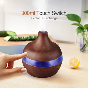 Household Humidifier 300ML Aroma Essential Oil Diffuser Ultrasonic Air Humidifier Grain Decoration Colorful Glow Diffusers New 13 6bh K2