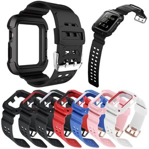 TPU Watch Band with Case Shell 2 in 1 for iWatch 6 5 4 3 2 1 Anti-fall Smart Watch Bracelet
