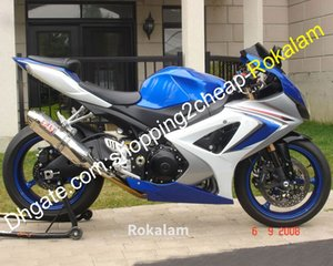 Para Suzuki GSXR1000 K7 07 08 GSXR GSX R 1000 GSX-R 1000 2007 2008 Cuerda corporal ABS Juego de carenados Silver Blue (moldeo por inyección)