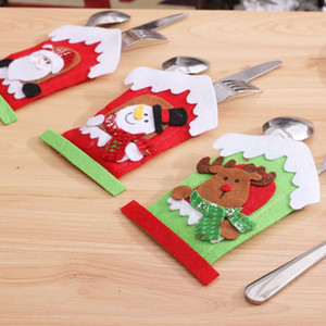 Christmas Table Decoration Cutlery Set Cutlery Set Santa Claus Elk Snowman Three Styles To Choose From Trendy Fashion