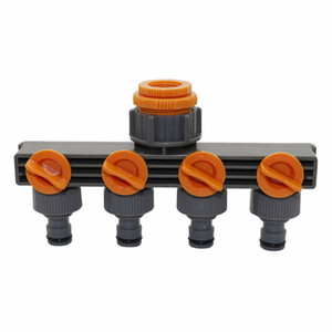 "1""to3 4""to1 2"" Female Thread 4 Way Hose Splitters For Automatic Watering Water Pipe Linker Timer Garden Water Irrigation Tool"