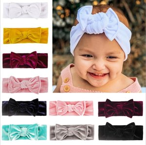 Children's hair band Cotton elastic Hot sale of children's hair band gold velvet Korean bow scarf baby hair accessories in stock