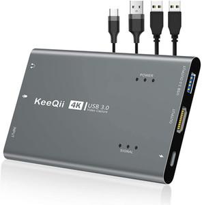 Tarjeta de captura de video HD 1080P, tarjeta de captura de juegos de 3.0 con 60 fps, transmisión y dispositivo de grabación de latencia ultra baja para el interruptor Nintendo