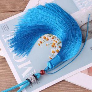 1 unids alta calidad cuerda de cuerda borlas bricolaje llavero gorros correas joyería haciendo encantos colgantes artesanía accesorios artesanía borlas H jllrvv
