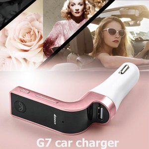 2020 G7 Car Wireless Bluetooth charger MP3 FM Transmitter Modulator Car Charger Wireless Kit Support Hands-free With USB Car Charger