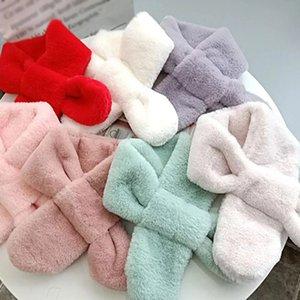 Fashion kid's Scarves Children Girls Boys Keep Warm Shawls Scarves Thickening Warm plush Winter Scarf toddler winter Scarves