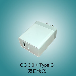 US type Mobile Phone Charging Adapter EU Dual Ports 18W Type C Usb PD Wall Charger For iPhone