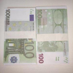 Fabrika Doğrudan 100 Euro Banknotlar Oyun Tokens Pratik Para Çocuk Oyuncakları Çekim Sahne Bar Atmosfer Sahne