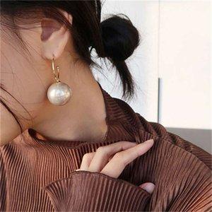 2020 Net Red Champagne Tempérament Big S925 Silver Silver Boucles d'oreilles de perles d'exagération à la mode