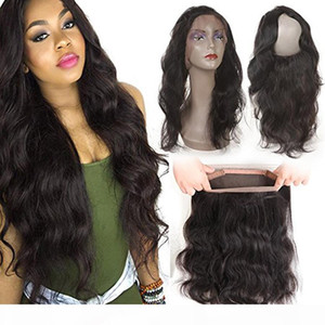 Natural Hairline 360 Full Lace Frontal Band Closure Brazilian Virgin Remy Body Wave Closures Back Lace Frontal With Baby Hair Bleached Knots