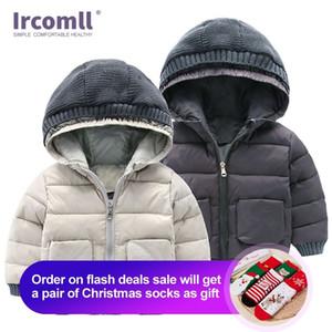 IRMOMLL Yeni Kış Erkek Çocuklar için Kalın Ceket Keep Kış Pamuk Ceket Çocuk Giyim Ceket Moda Erkek Giysileri 201102