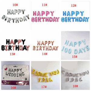Happy Birthday Letters Aluminum Foil Balloons Happy Birthday Party Decoration 16inch Kids Alphabet Air Balloon Baby Shower Supplies BC H4464