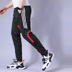 Men's Soccer pants 20 Jogging Pants Men Running Zipper Sports Fitness Tights Athletic Football Training pant Male Trousers
