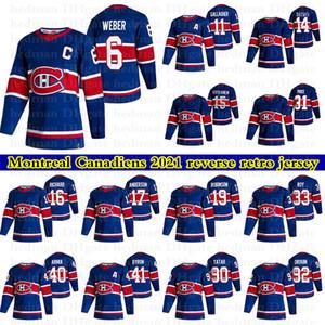 2021 Montreal Canadiens Ters Retro Formalar 31 Carey Fiyat 11 Brendan Gallagher 6 Weber Özel Herhangi bir Adı Herhangi bir Number Hokey Jersey