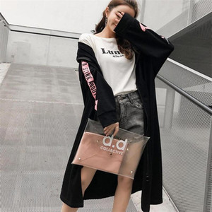 New Long Trench Coats For Women 2020 Spring Autumn Windbreaker Outerwear Female Hooded Coats C086