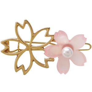Pink Cherry Hair Clip Japanese Style Side Clip Headwear For Student Girl Wholesale Hair Accessory New Fashion Style
