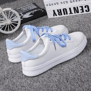 Fashion Shoes Women's Vulcanize Shoes Spring New Casual Flats Solid Color PU Leather Women Casual White Sneakers #hX5l