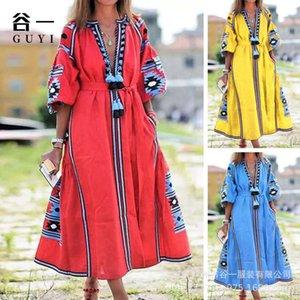 Guyi 2020 платье женское богемное