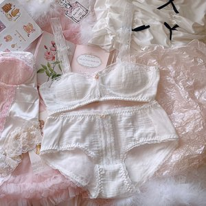 2 Pc Ethika Women Set Lace Cotton Underwear Suit Soft White French Japanese Women's Sexy Lingerie Cute My Melody Bra Panties New