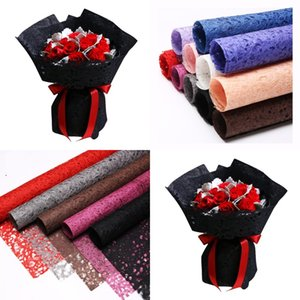 Colour Hollowed Out Packing Paper Pure Color Florist Valentines Day Bouquet Gift Wrapping Material A Set Of Ten Sheets 20 92hx J2